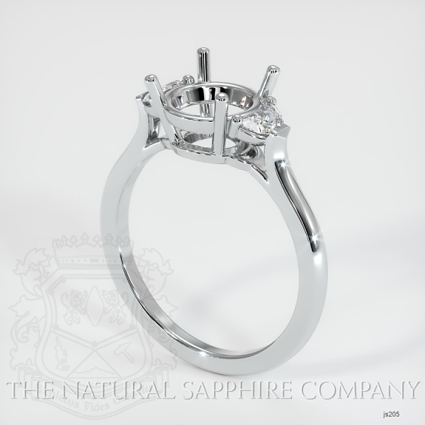 3 Stone Ring Setting - Half Moon Diamonds JS205 Image
