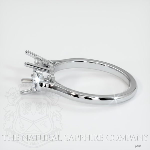 3 Stone Ring Setting - Half Moon Diamonds JS205 Image 3