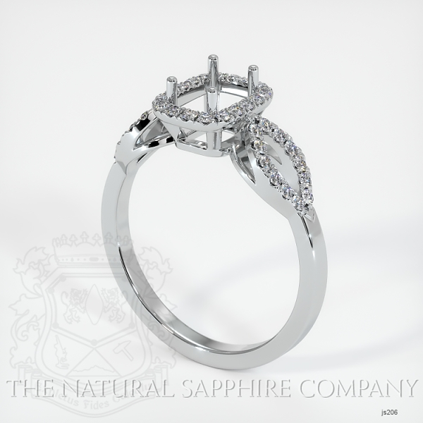 Pave Diamond Halo Ring Setting - Loop Band JS206 Image