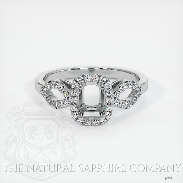 Pave Diamond Halo Ring Setting - Loop Band JS206 Image 2