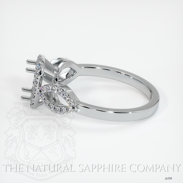 Pave Diamond Halo Ring Setting - Loop Band JS206 Image 3