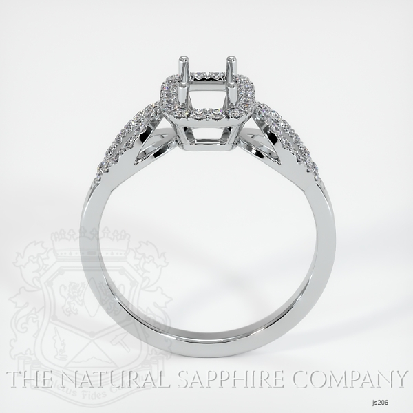 Pave Diamond Halo Ring Setting - Loop Band JS206 Image 4
