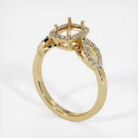 14K Yellow Gold Pave Diamond Ring Setting - JS206Y14