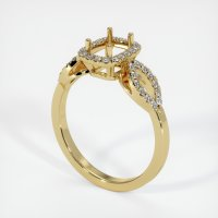 18K Yellow Gold Pave Diamond Ring Setting - JS206Y18