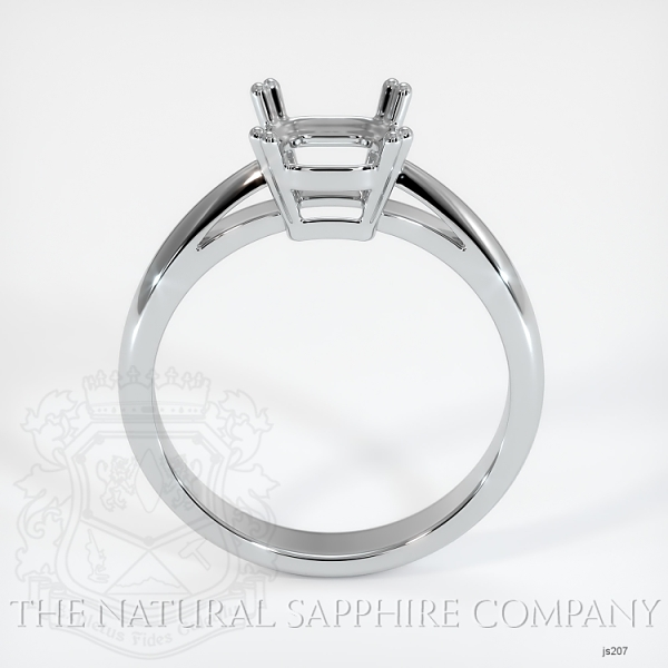 Double Prong Cathedral Solitaire Ring Setting JS207 Image 4