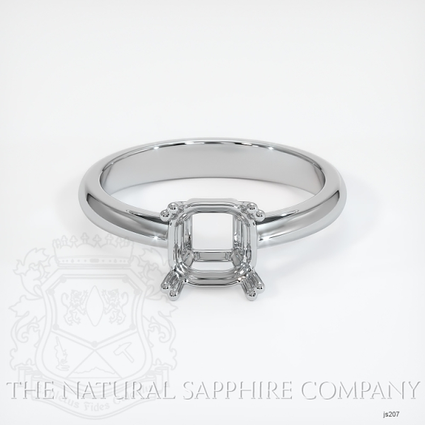 Double Prong Cathedral Solitaire Ring Setting JS207 Image 2