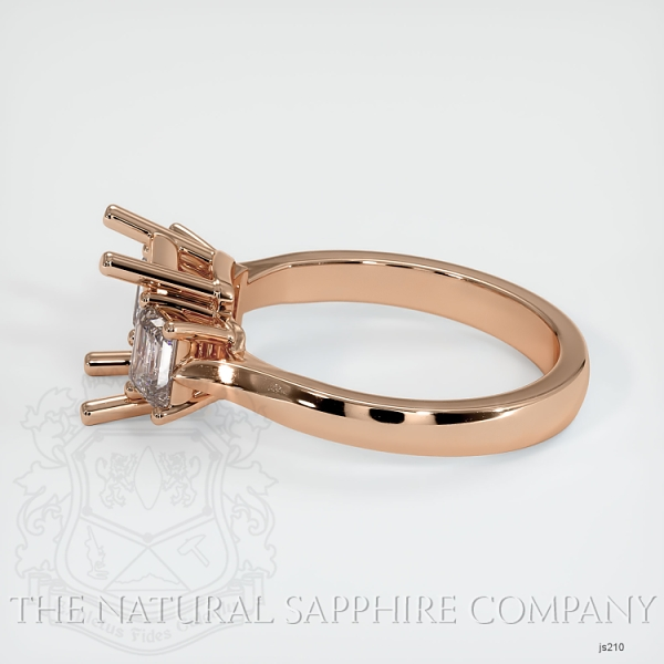 3 Stone Ring Setting - Emerald Cut Diamonds JS210 Image 3