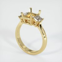 14K Yellow Gold Ring Setting - JS210Y14