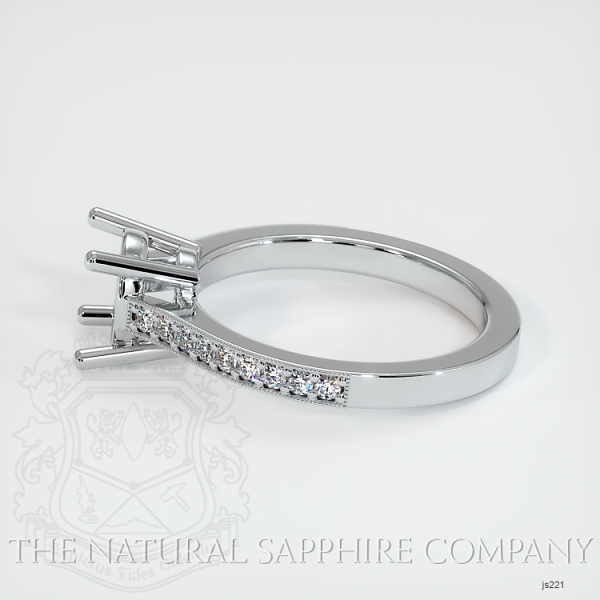 4 Prong Pave Ring Setting JS221 Image 3