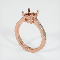 14K Rose Gold Pave Diamond Ring Setting - JS221R14