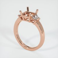 14K Rose Gold Ring Setting - JS222R14