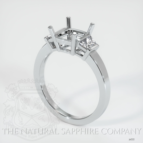 3 Stone Ring Setting - Trapezoid Diamonds JS222 Image