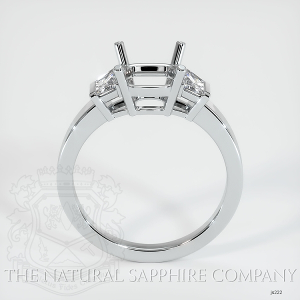 3 Stone Ring Setting - Trapezoid Diamonds JS222 Image 3