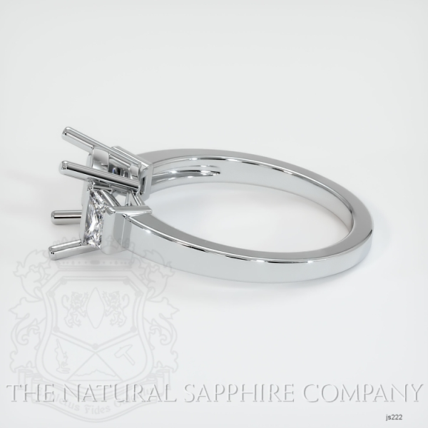 3 Stone Ring Setting - Trapezoid Diamonds JS222 Image 4