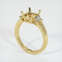 18K Yellow Gold Ring Setting - JS222Y18