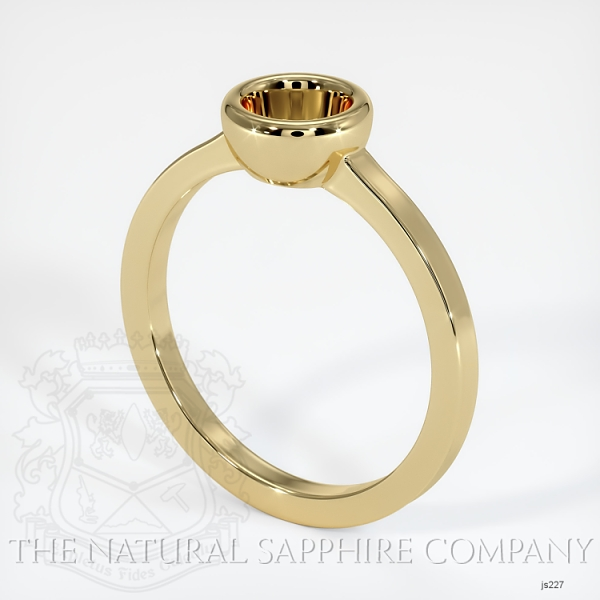 Bezel Set Solitaire Ring Setting JS227 Image