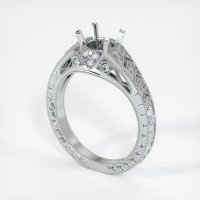18K White Gold Pave Diamond Ring Setting - JS229W18