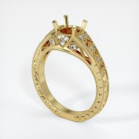 18K Yellow Gold Pave Diamond Ring Setting - JS229Y18