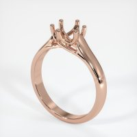 14K Rose Gold Ring Setting - JS23R14