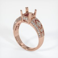 14K Rose Gold Pave Diamond Ring Setting - JS231R14