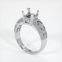 18K White Gold Pave Diamond Ring Setting - JS231W18
