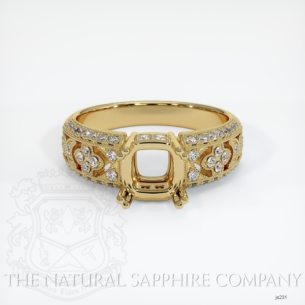 Antique Double Prong Ring Setting JS231 Image 2