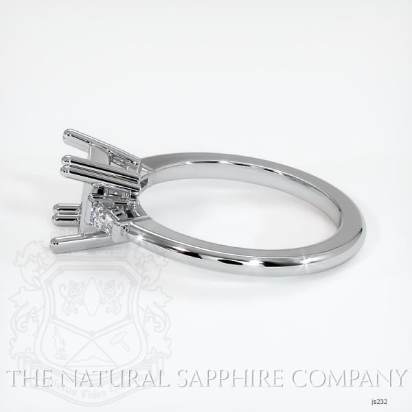 3 Stone Ring Setting - Tapered Baguette Diamonds, Double Prong JS232 Image 3