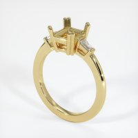 18K Yellow Gold Ring Setting - JS232Y18