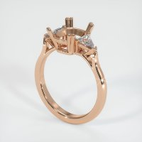 18K Rose Gold Ring Setting - JS234R18