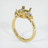18K Yellow Gold Ring Setting - JS234Y18