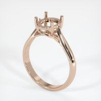 18K Rose Gold Ring Setting - JS236R18