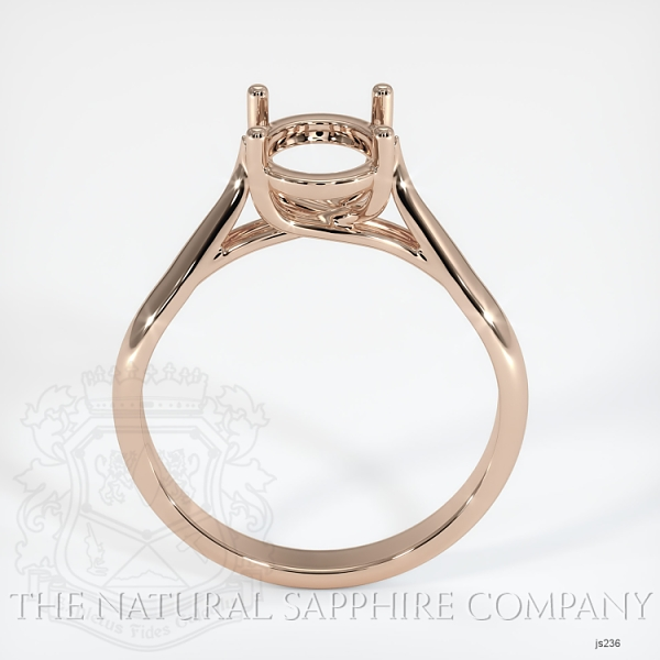 4 Prong Solitaire Trellis Setting - Tapered Band JS236 Image 4