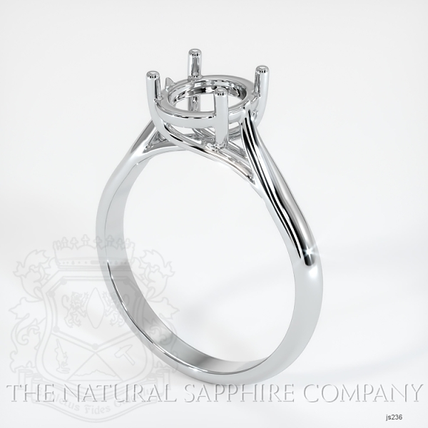 4 Prong Solitaire Trellis Setting - Tapered Band JS236 Image