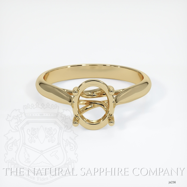 4 Prong Solitaire Trellis Setting - Tapered Band JS236 Image 2