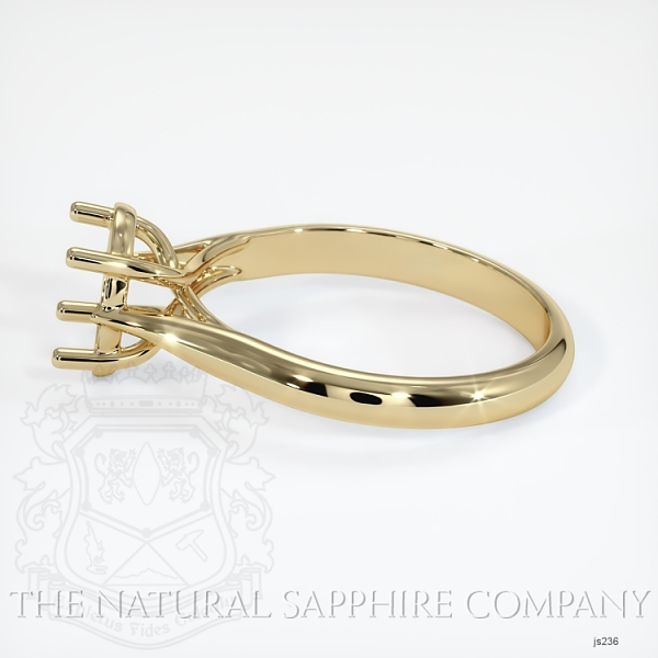 4 Prong Solitaire Trellis Setting - Tapered Band JS236 Image 3