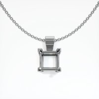 18K White Gold Pendant Setting - JS238W18