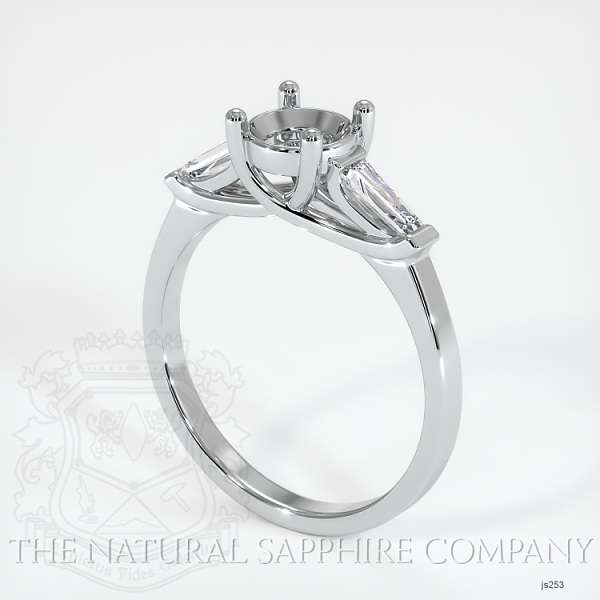 Trellis Three-Stone Ring - Tapered Baguette Diamonds JS253 Image