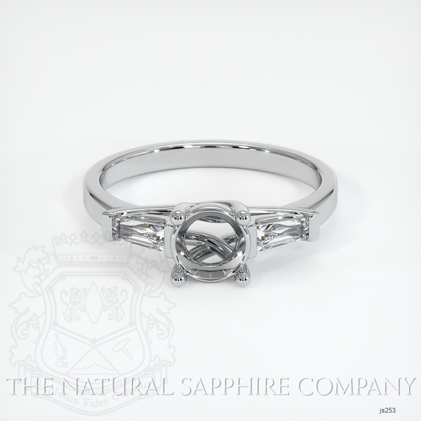 Trellis Three-Stone Ring - Tapered Baguette Diamonds JS253 Image 2