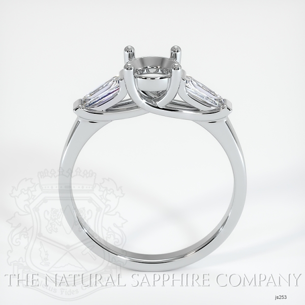 Trellis Three-Stone Ring - Tapered Baguette Diamonds JS253 Image 4