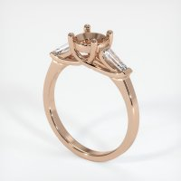 18K Rose Gold Ring Setting - JS253R18