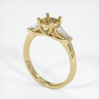 14K Yellow Gold Ring Setting - JS253Y14