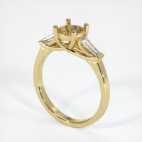 18K Yellow Gold Ring Setting - JS253Y18