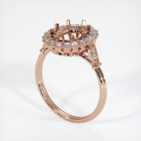 14K Rose Gold Ring Setting - JS265R14