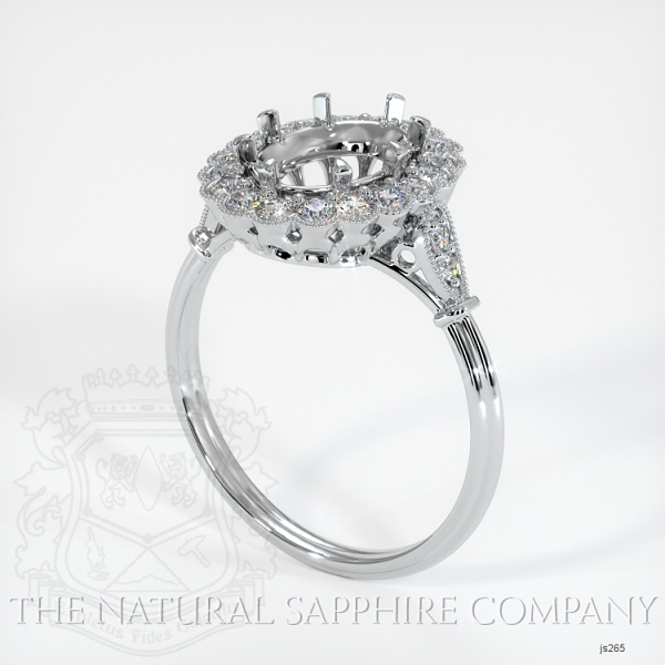 Antique Style 6 Prongs Halo Ring Setting JS265 Image