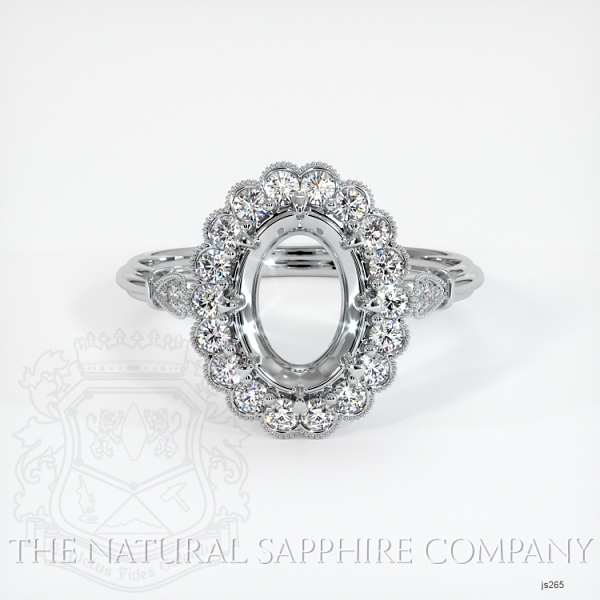 Antique Style 6 Prongs Halo Ring Setting JS265 Image 2