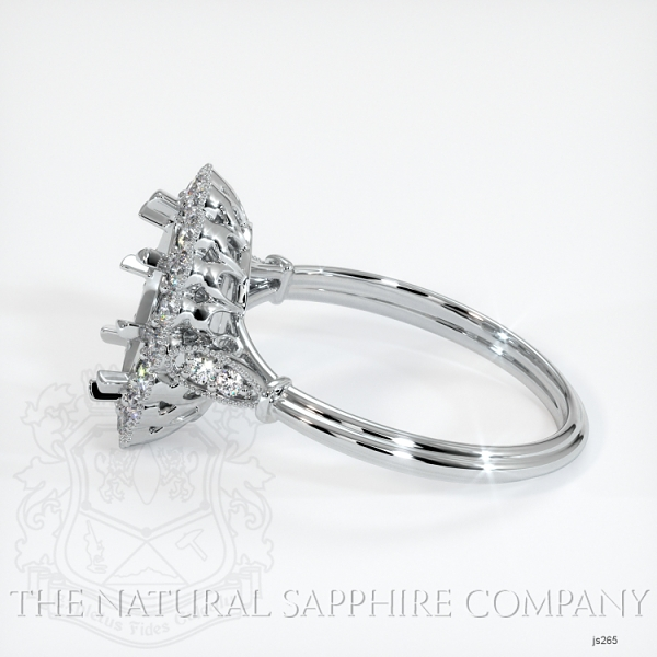Antique Style 6 Prongs Halo Ring Setting JS265 Image 3