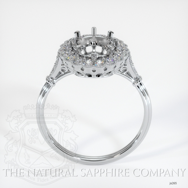 Antique Style 6 Prongs Halo Ring Setting JS265 Image 4