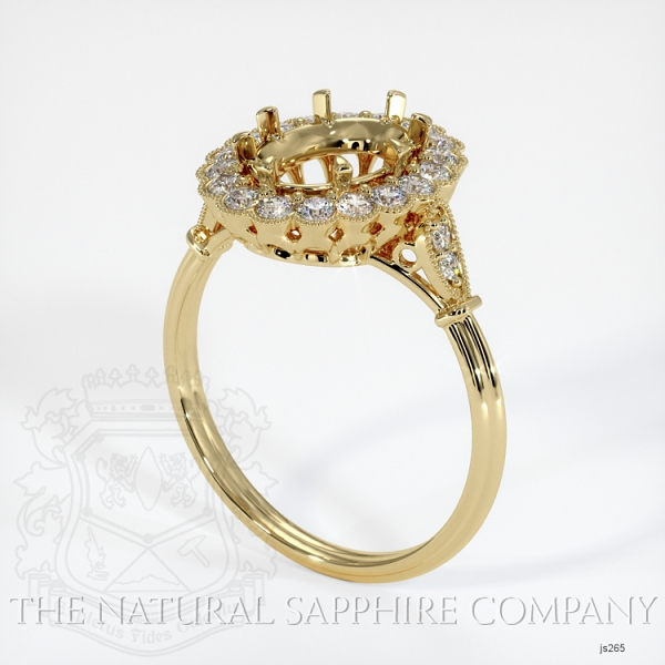 Antique Floral Halo Ring Setting JS265 Image