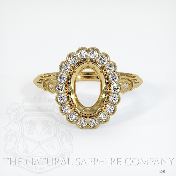 Antique Floral Halo Ring Setting JS265 Image 2