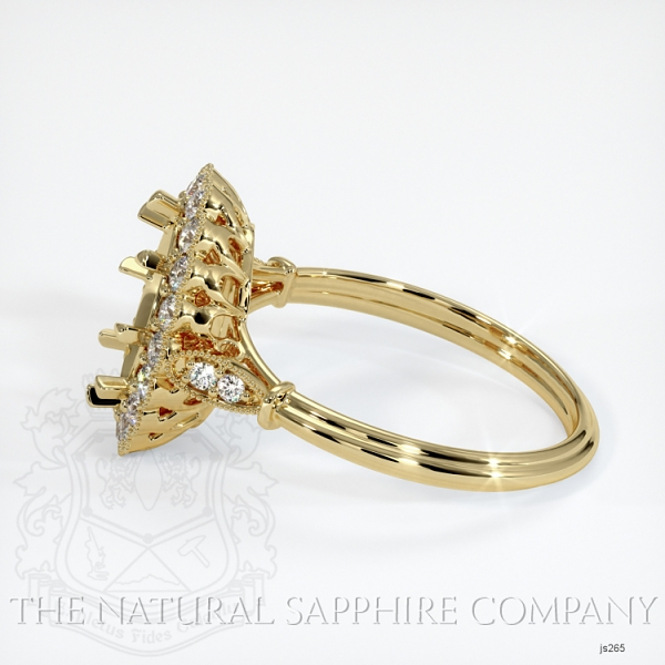 Antique Floral Halo Ring Setting JS265 Image 3